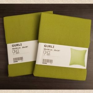 IKEA Gurli light green throw pillow covers.